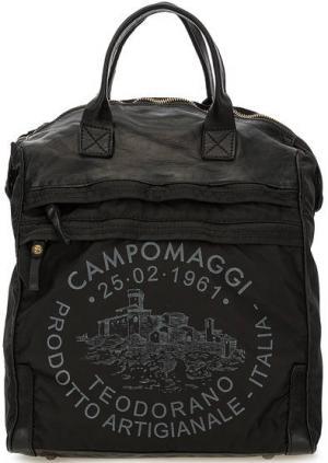 Черная сумка-рюкзак с одним отделом Campomaggi. Цвет: черный