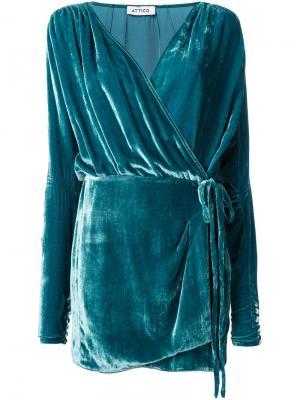 Платье Anjelica Attico. Цвет: зелёный