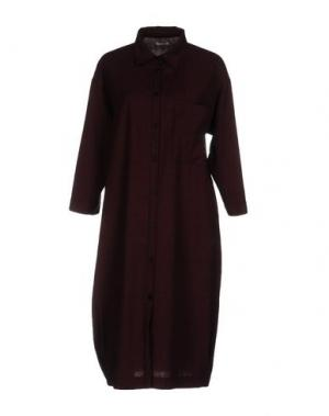 Платье до колена PENCE. Цвет: красно-коричневый