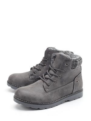 Ботинки Flois. Цвет: серый