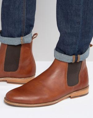 Bobbies Кожаные ботинки челси LHorloger. Цвет: рыжий