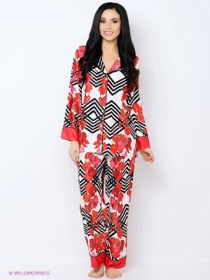 Пижама Natori. Цвет: красный, белый