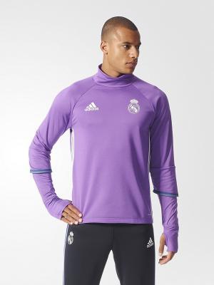 Джемпер Real Madrid Training Top Adidas. Цвет: фиолетовый, белый