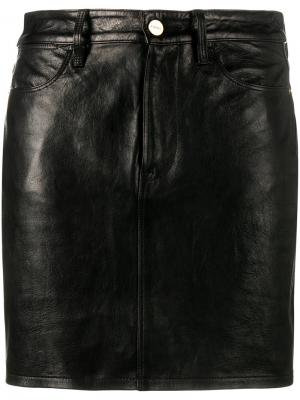 Короткая юбка Frame Denim. Цвет: чёрный
