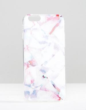 SIGNATURE Чехол для iPhone 6 с принтом. Цвет: розовый