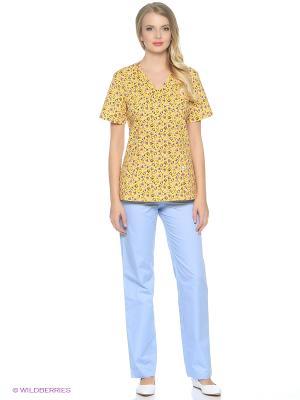 Блузка медицинская Med Fashion Lab. Цвет: желтый