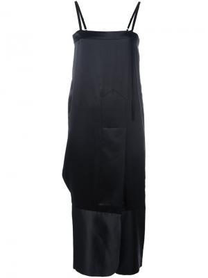 Платье шифт средней длины Quetsche. Цвет: чёрный