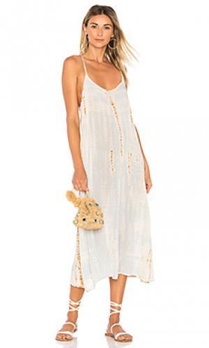 Платье-комбинация racer LACAUSA. Цвет: нежно-голубой