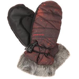 Варежки сноубордические женские  Alero Mitt Rowen Dakine. Цвет: черный,бордовый