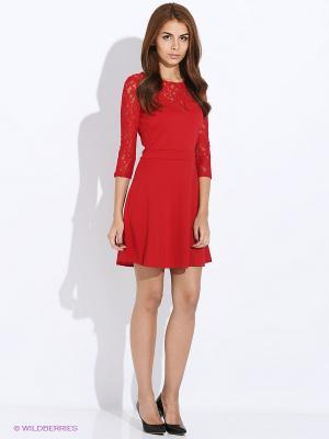 Платье SELA. Цвет: темно-красный