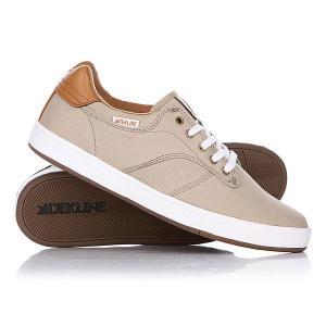 Кеды кроссовки низкие  Dalton Khaki/White Dekline. Цвет: бежевый
