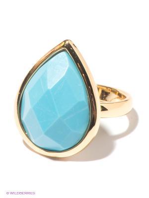 Кольцо Infiniti. Цвет: золотистый, голубой
