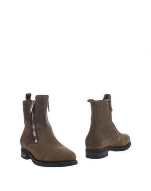 Полусапоги и высокие ботинки DSQUARED2. Цвет: хаки