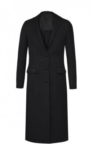 Пальто прямого кроя с узкими лацканами Acne Studios. Цвет: черный