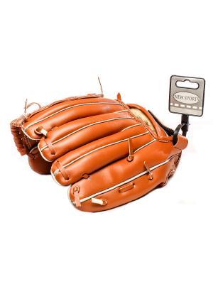 Бейсбольная перчатка HUILE. Цвет: коричневый