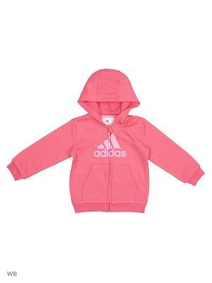 Толстовка I FAV FZ HD Adidas. Цвет: розовый