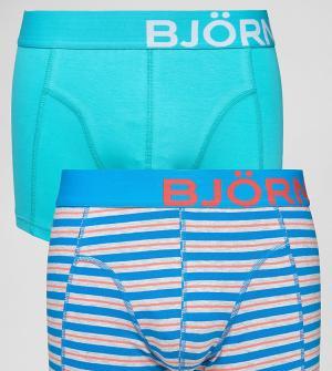 Bjorn Borg 2 пары боксеров-брифов. Цвет: синий