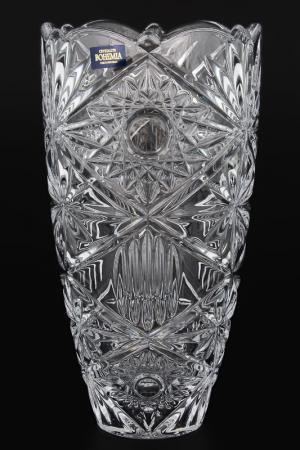 Ваза, 25 см Crystalite Bohemia. Цвет: прозрачный