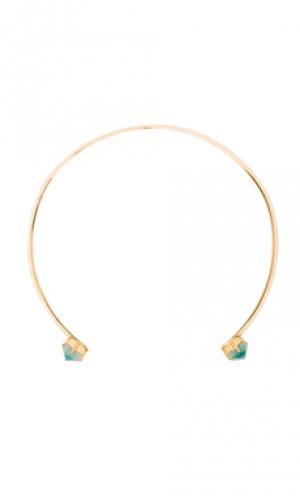Ожерелье aphrodite Amber Sceats. Цвет: металлический золотой