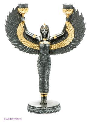 Подсвечник Исида - богиня материнства и плодородия Veronese. Цвет: темно-серый, золотистый