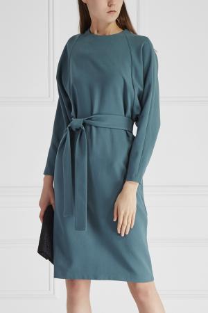 Однотонное платье Cyrille Gassiline. Цвет: голубой
