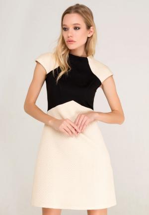 Платье Lezzarine. Цвет: бежевый