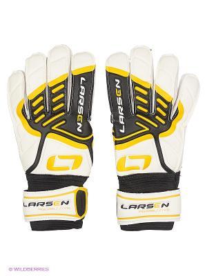 Перчатки вратарские Agressive Larsen. Цвет: белый, желтый, черный