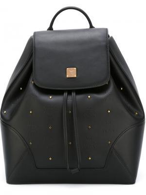 Рюкзак с заклепками Claudia Studs MCM. Цвет: чёрный