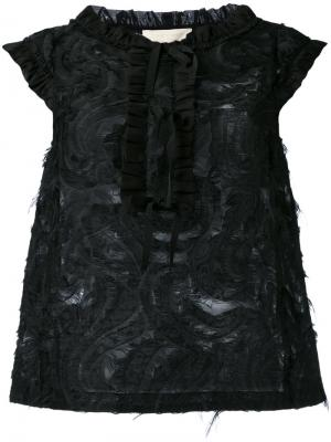 Frayed sleeveless top LAutre Chose L'Autre. Цвет: чёрный