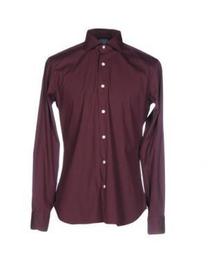 Pубашка DANDYLIFE by BARBA. Цвет: красно-коричневый