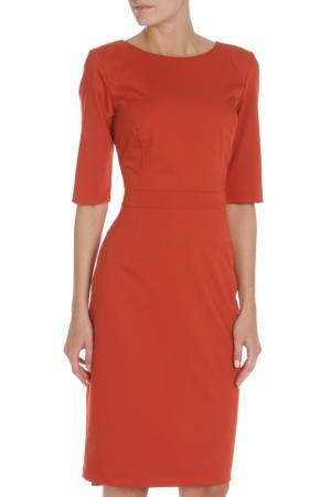 Платье с пуговицами на спинке Evita. Цвет: brick, красный