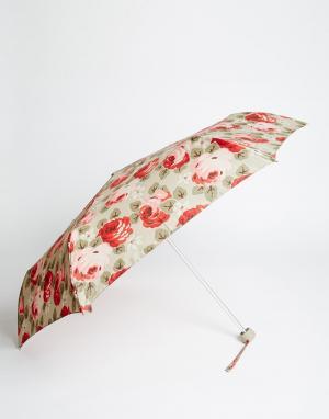 Cath Kidston Небольшой зонт с цветочным принтом Aubrey. Цвет: бежевый