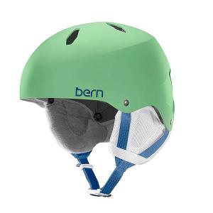 Шлем для сноуборда детский  Diabla Satin Lime Green/White Liner Bern. Цвет: мультиколор