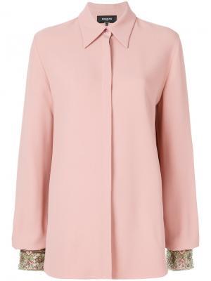 Concealed button shirt Rochas. Цвет: розовый и фиолетовый