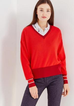 Пуловер Tommy Hilfiger. Цвет: красный