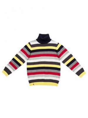 Свитер PlayToday. Цвет: серый, красный, желтый, белый, синий