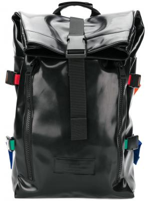 Рюкзак с загибающимся верхом Ami Alexandre Mattiussi. Цвет: чёрный