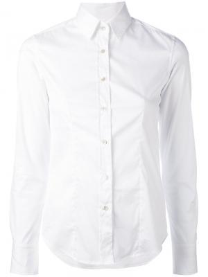 Рубашка узкого кроя Lucy Xacus. Цвет: белый