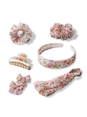 Комплект аксессуаров для волос PRETTY FLORAL ESLI. Цвет: бледно-розовый, белый