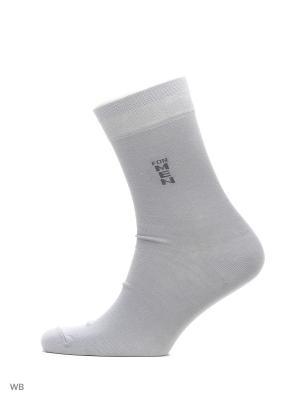 Классические носки с рисунком (3 пары) HOSIERY. Цвет: серый