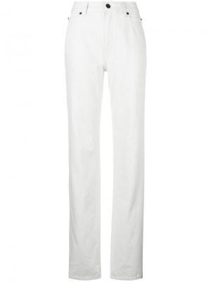 Расклешенные джинсы с завышенной талией Calvin Klein 205W39nyc. Цвет: телесный
