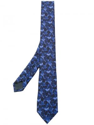 Галстук с цветочной вышивкой Z Zegna. Цвет: синий