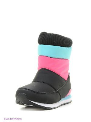 Дутики STROBBS. Цвет: голубой, розовый, черный
