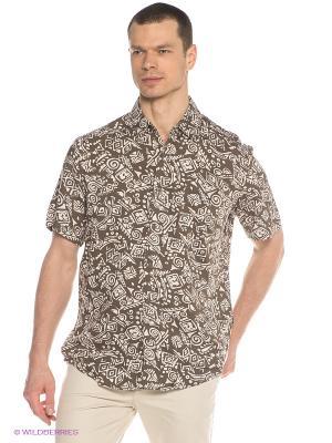 Рубашка Finn Flare. Цвет: хаки, кремовый