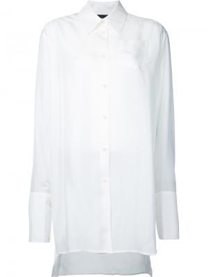 Рубашка с широкими манжетами Yang Li. Цвет: белый