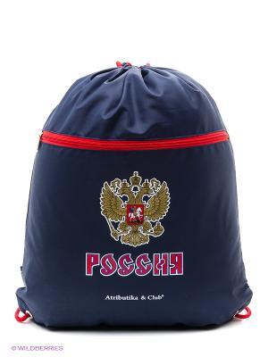 Мешок на шнурке Россия Atributika & Club. Цвет: синий