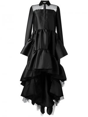 Платье с оборками Natasha Zinko. Цвет: чёрный