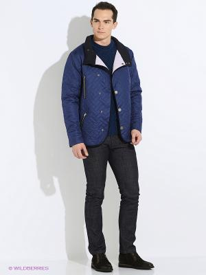 Куртка стеганая Пряник. Цвет: синий