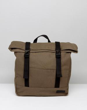 Dead Vintage Парусиновый рюкзак-шоппер цвета хаки. Цвет: зеленый