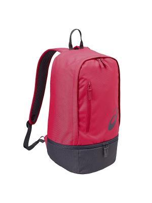 Рюкзак TR CORE BACKPACK ASICS. Цвет: розовый, серый, черный